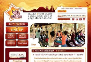 Bali spirit festival Official website