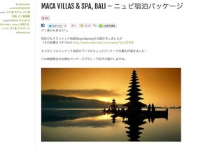 MACA VILLAS & SPA, BALI – ニュピ宿泊パッケージ