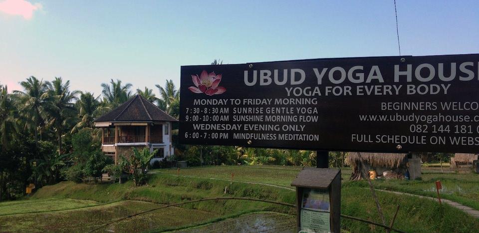 Ubud Yoga House はじめてのヨガにおすすめ