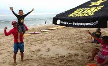 バリ島 ODYSSEYS SURF SCHOOL 大人も子供も日本語で安全にサーフィンを習いましょうー!